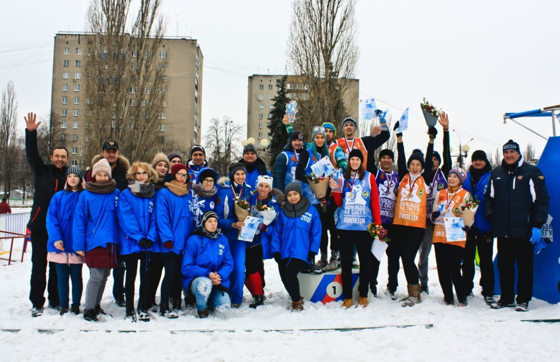 Russia Hosts Its First Ever Snow Volleyball Cup