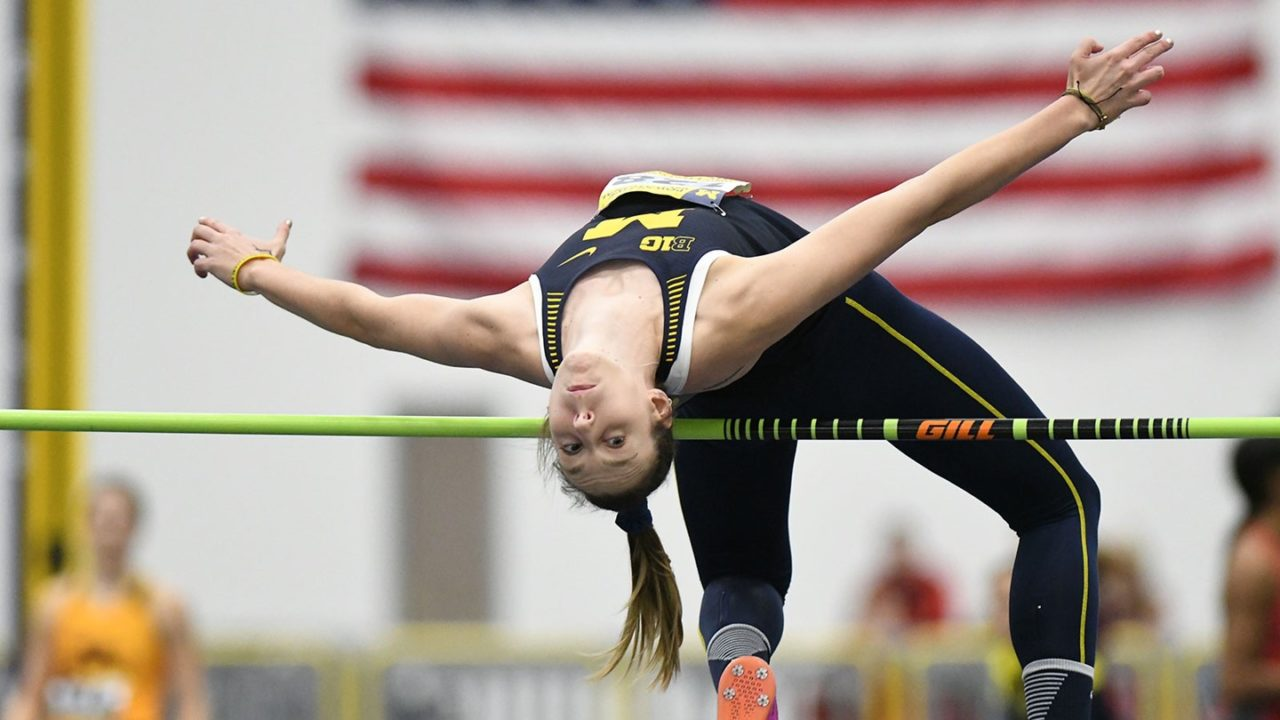 Two-Sport Star Kieffer-Wright Earns Big Ten Track Honors for Michigan