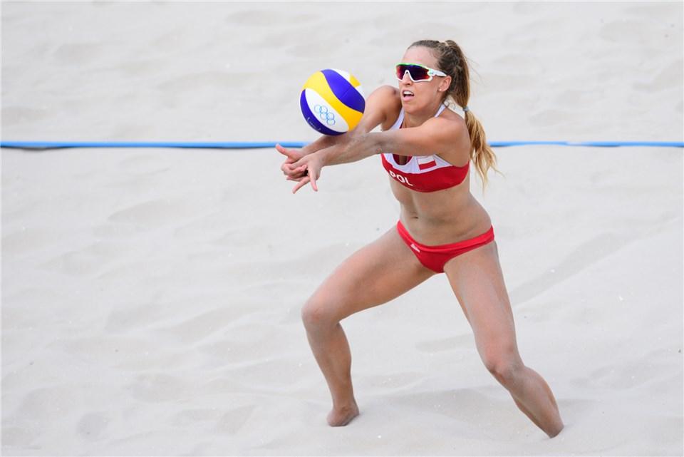 Monika Brzostek, Rio Beach Olympian, Wins Polish Snow Volleyball Title