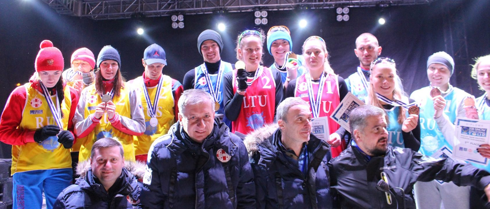 Russia And Lithuania Dominate Snow Volleyball European Tour At Georgia