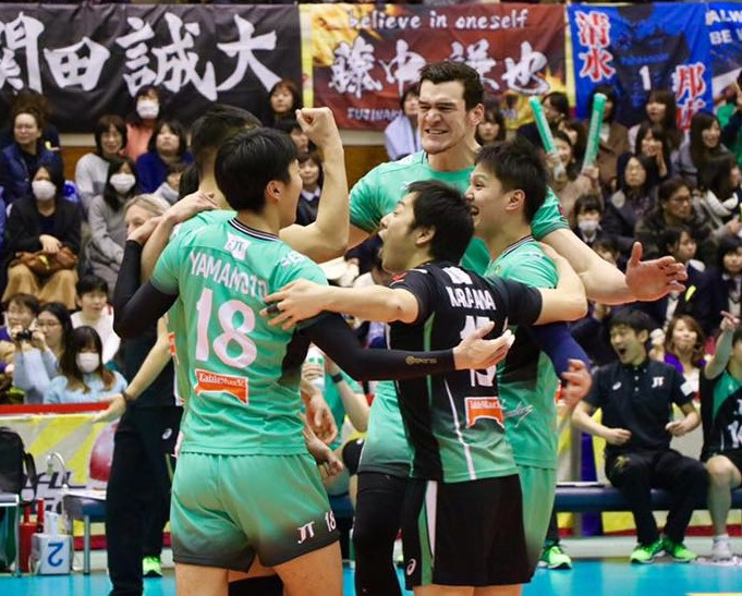 Japan: JT Thunders Upset Panasonic, Move into 2nd in Final 6