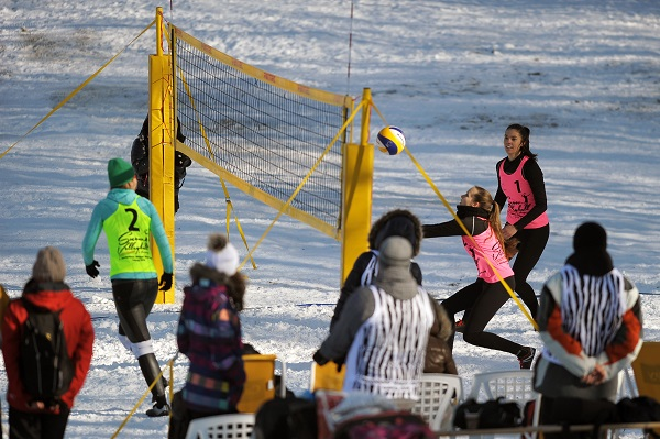 Turkey And Hungary Crown National Snow Volleyball Champions