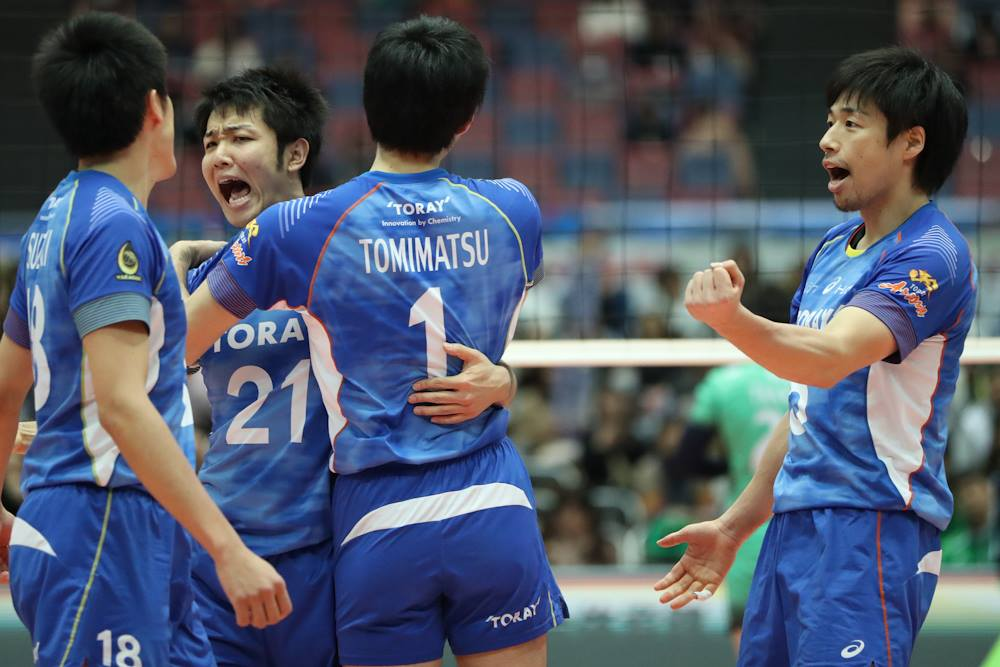 Japan Men: Panasonic lose but a Toray Win, Puts Panthers in Final