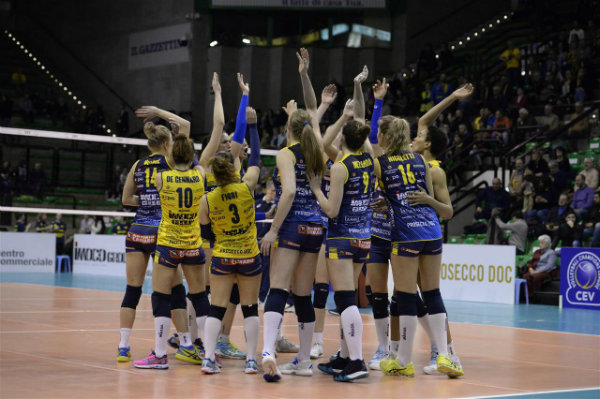 Imoco, VakifBank Pick Up Sweeps, Novara Fights Through 5 In Women's CL