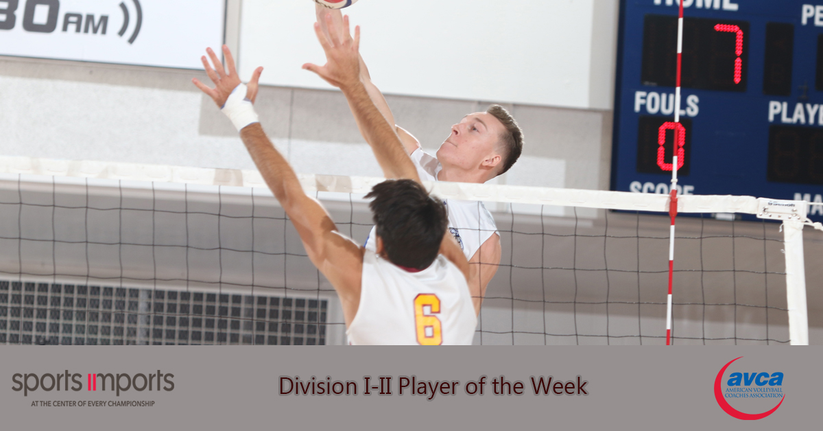 Fort Wayne's Tony Price Named AVCA Men's DI-II Player Of The Week