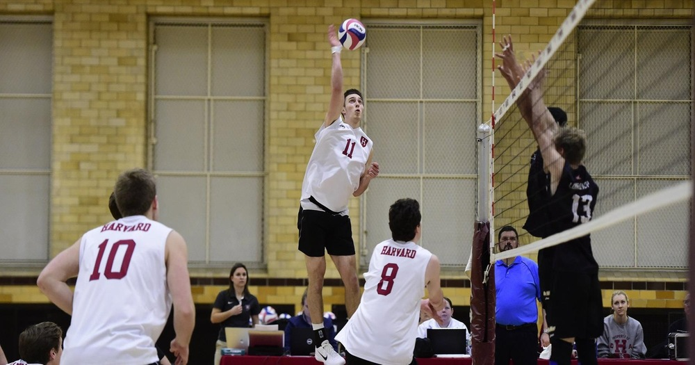 Harvard Scores Four-Set Upset of SFU; #16 GMU, #17 PSU Win on Road