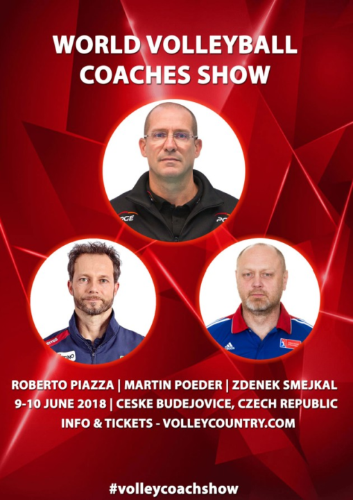 Piazza, Poeder, Smejkal to be Featured at World VB Coaches Conference