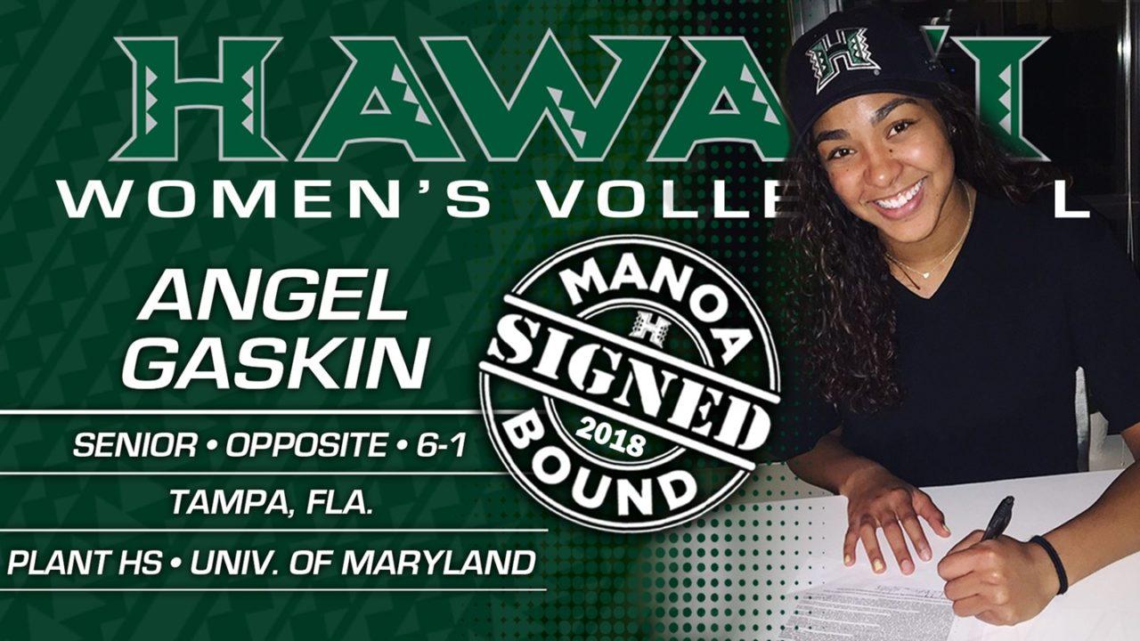 Hawaii Lands Maryland Transfer Angel Gaskin for 2018