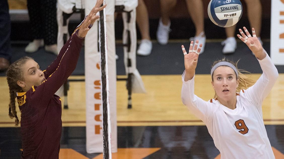 Ashley Shook Discusses Freshman Season as Texas' Setter (VIDEO)
