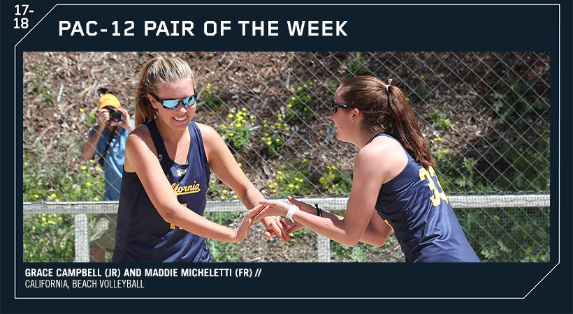 Campbell, Micheletti Claim First Pac-12 Pair of the Week Honor for Cal