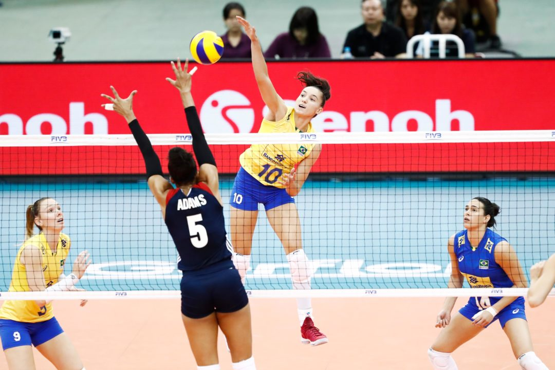 Brazil's Gabriela Celebrates Being Fully Recovered For VNL's Final 6