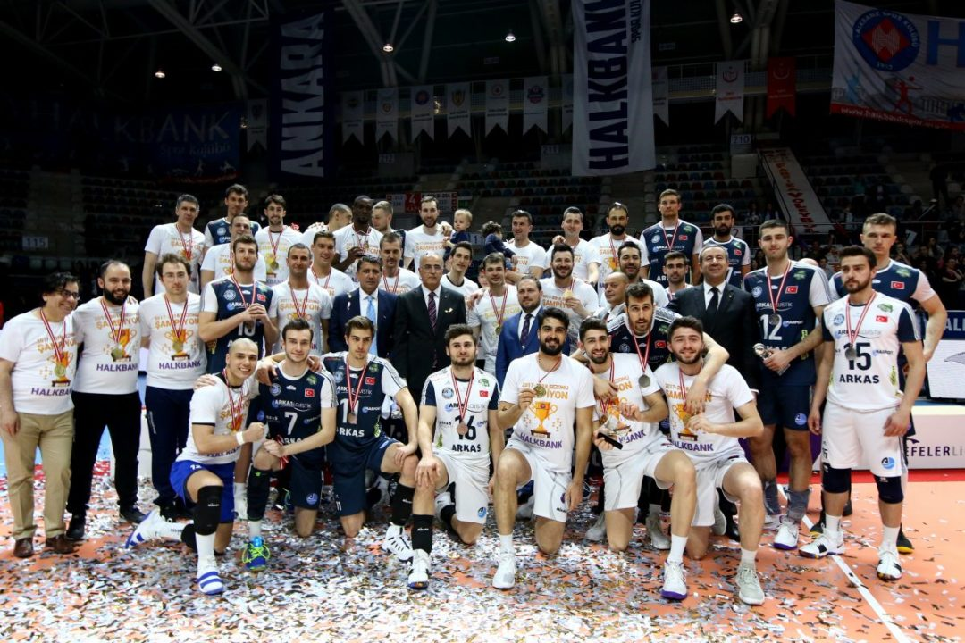 Halkbank Ankara Wins Turkish Championship-Cup-SuperCup Treble