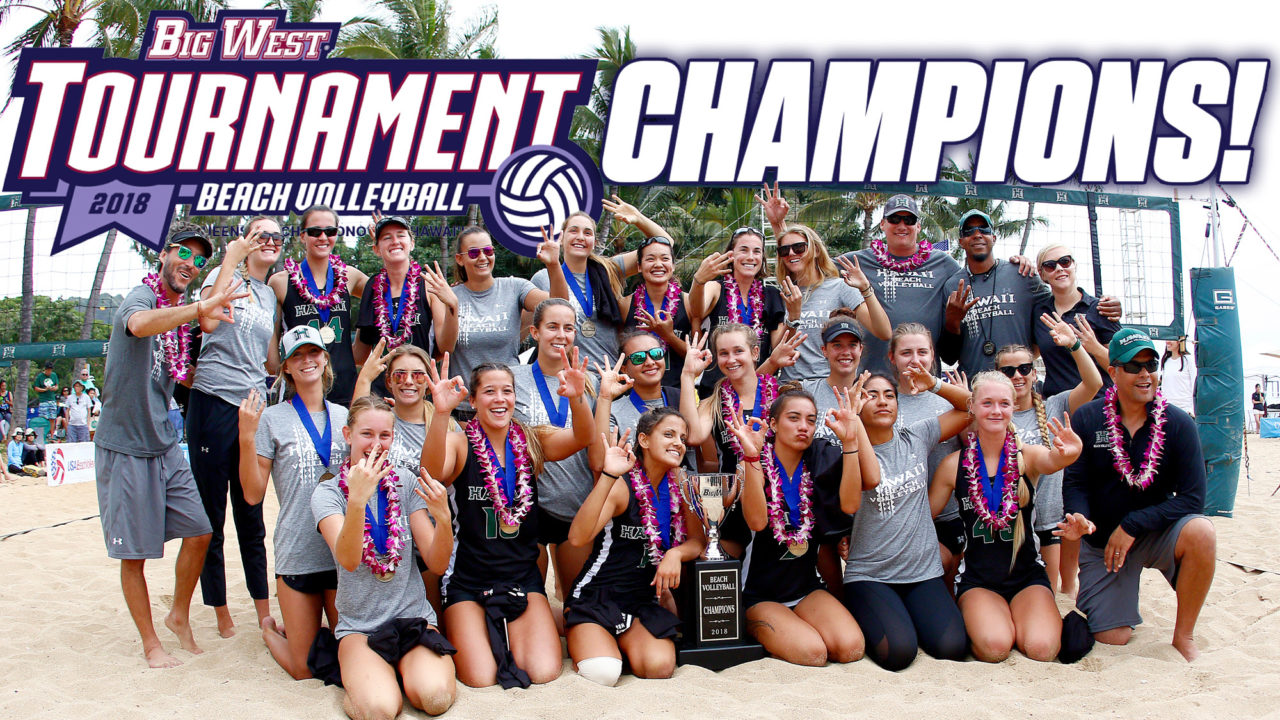 Hawaii Nabs Third-Straight Big West Beach Tourney Title