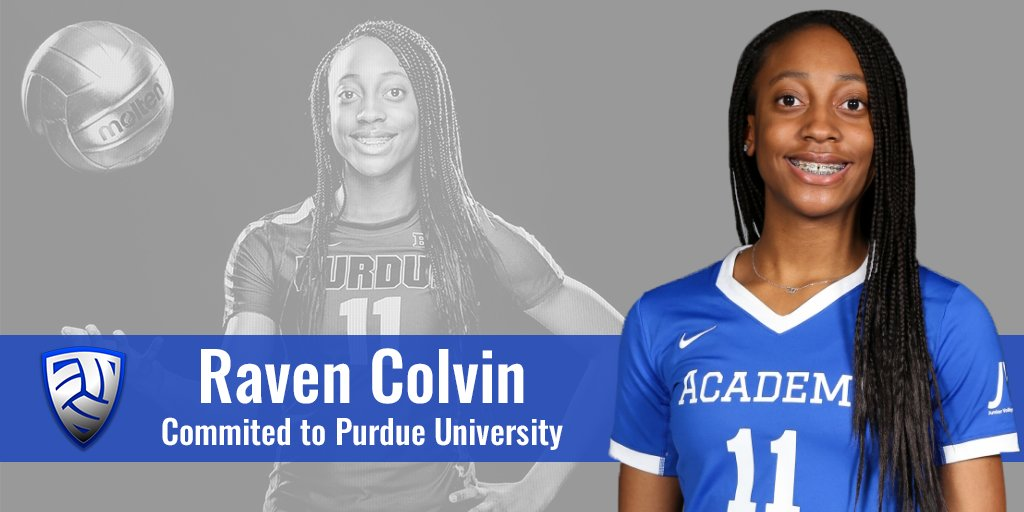 Class of 2021 Middle Blocker Raven Colvin Commits to Purdue