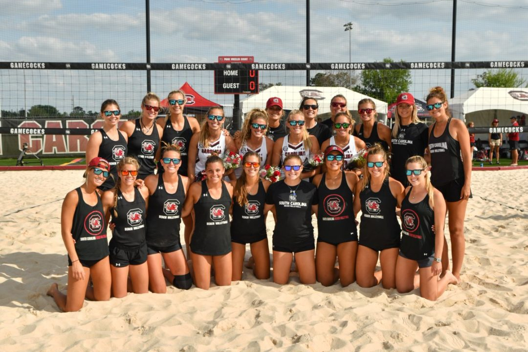 #9 South Carolina, #17 Stetson Grab Two Friday Beach Wins