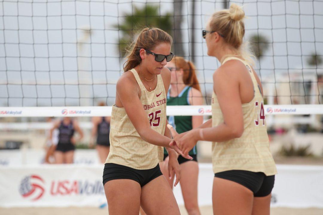 2 Men's, 4 Women's Teams Remain at U.S. Collegiate Beach Championships