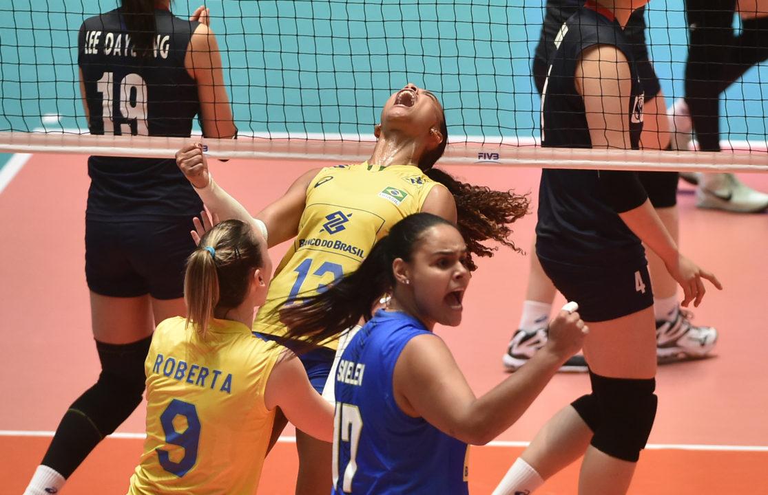 Tandara Drops 33 in Brazil's 4-Set Win; Dutch Sweep Poland