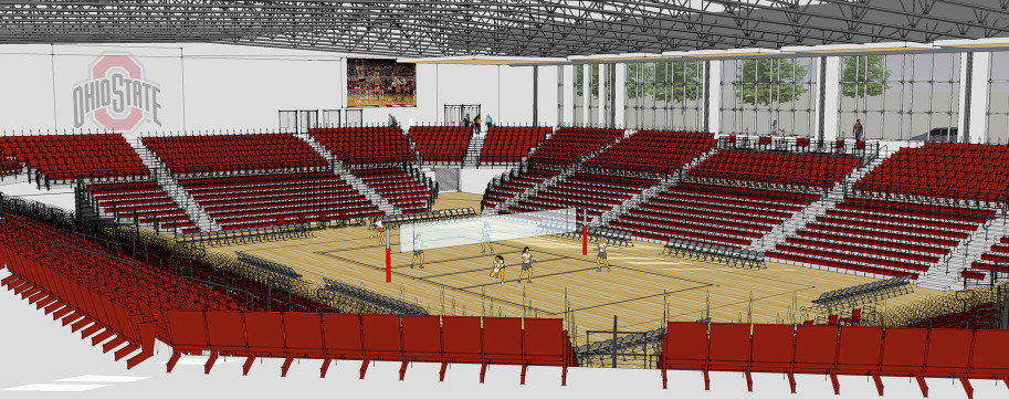 Ohio State Volleyball's New Covelli Center Taking Shape