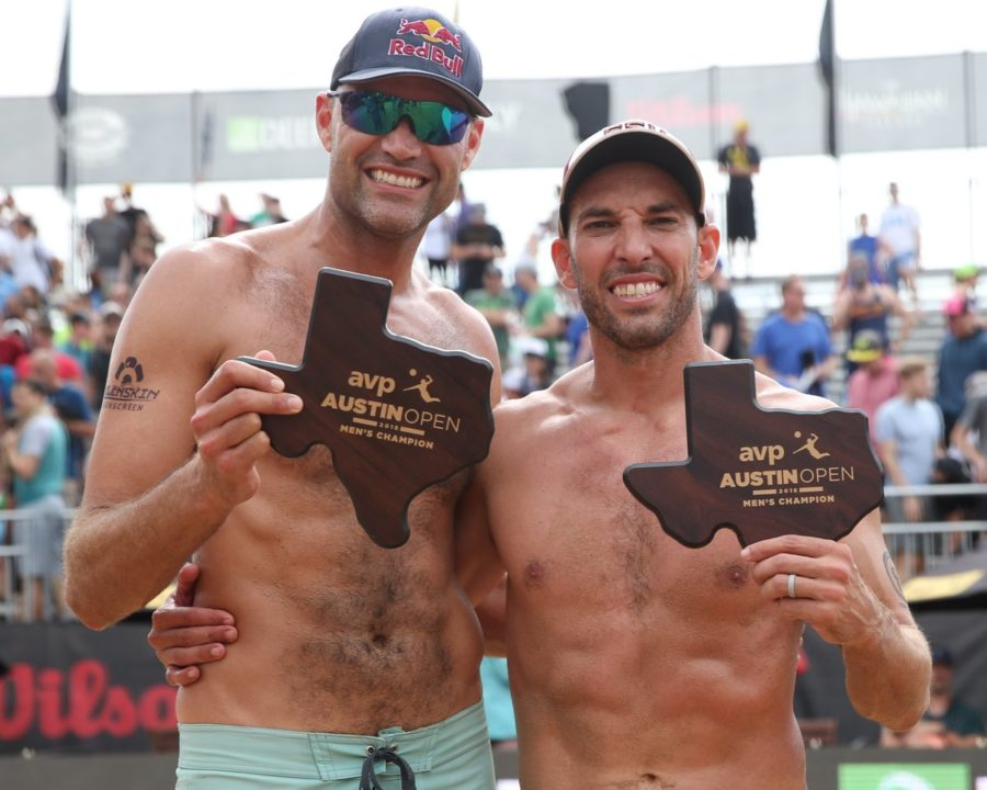 Dalhausser/Lucena, Klineman Ross Go Wire to Wire for Austin Open Gold
