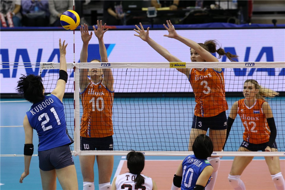 Dutch Dominate the Block in Sweep of Japan to Wrap #VNL Week 2