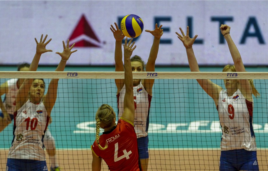 Stevanovic's 10 Blocks Helps Serbia Drown Germany – Pool 4 Recap Day 2