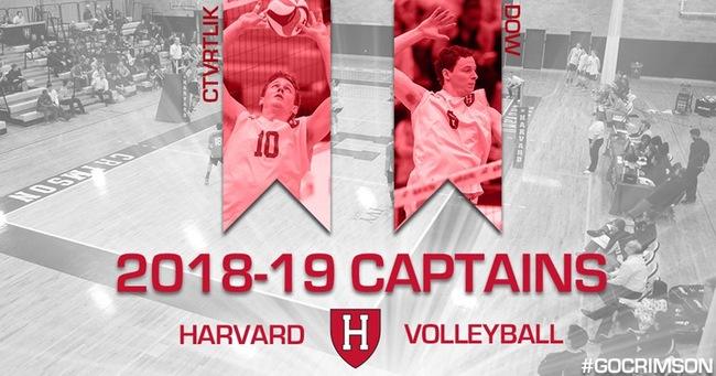Trevor Dow, Matt Ctrvtlik Named Harvard Co-Captains for 2018-2019