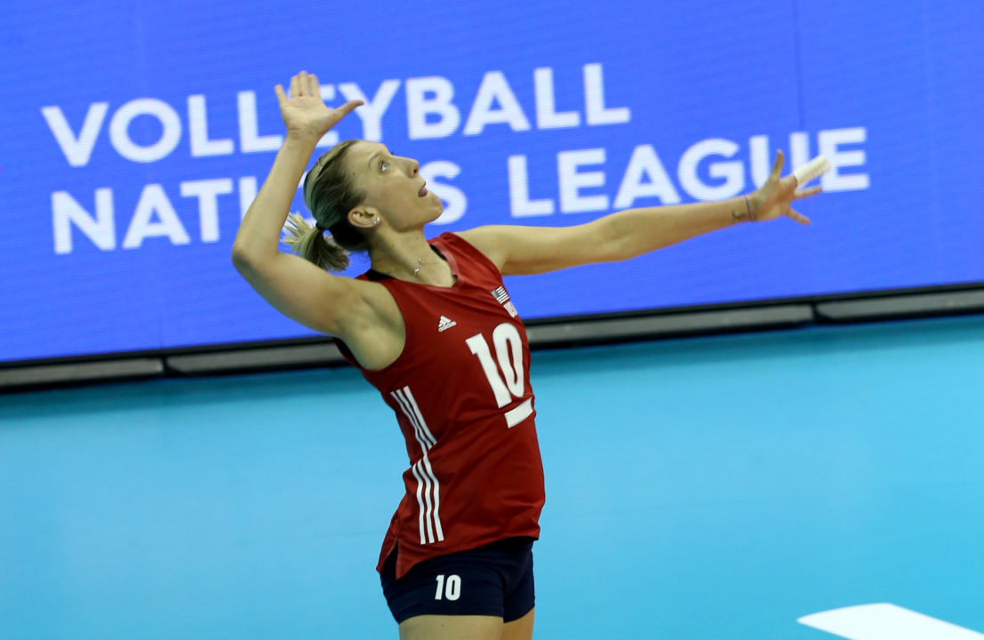Larson Leads USA Past Dutch, Japan Sweeps Belgium in #VNL Pool 5
