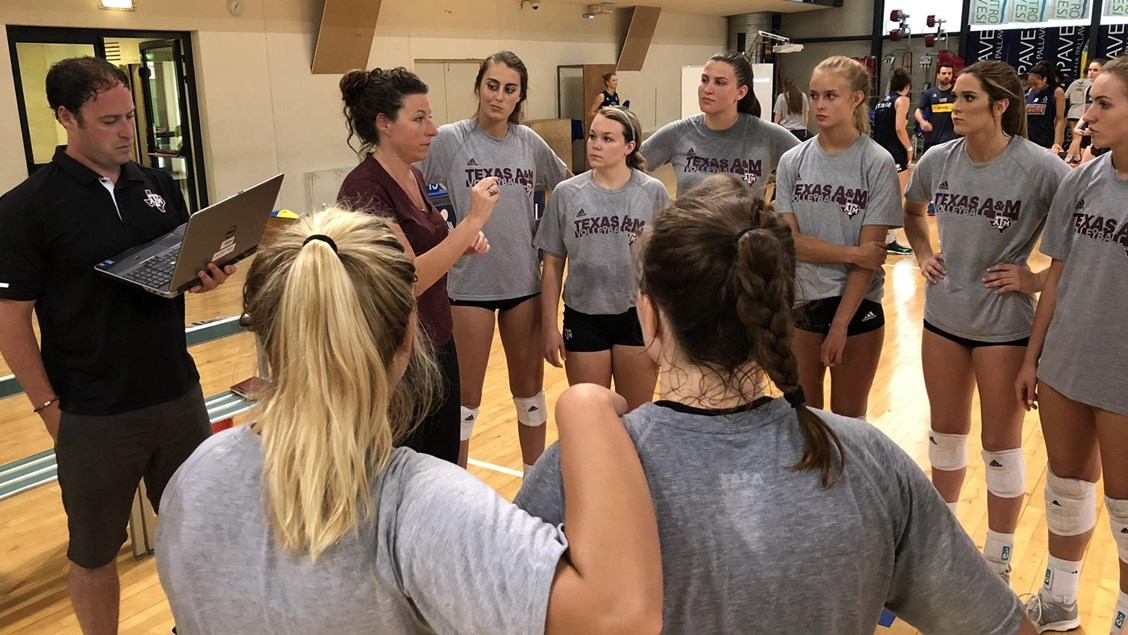 Texas A&M Forces Club Italia to Five Sets