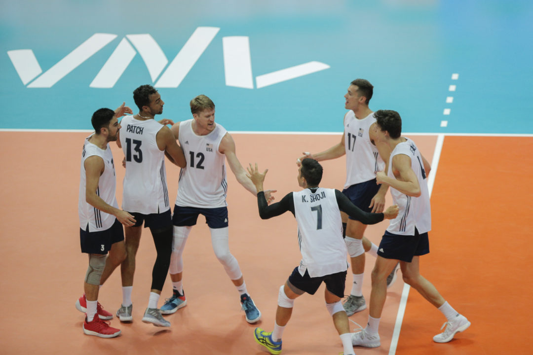 Sander Leads USA Men in 3-1 Win Over Bulgaria on #VNL Day 2
