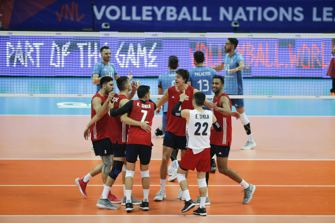 USA Men Rally From Down 2-0 to Take Argentina in 5 in #VNL Opener