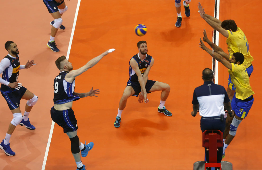 Zaytsev's 32 Points Lift Italy Past #1 Brazil; Serbia Tops Germany 3-1