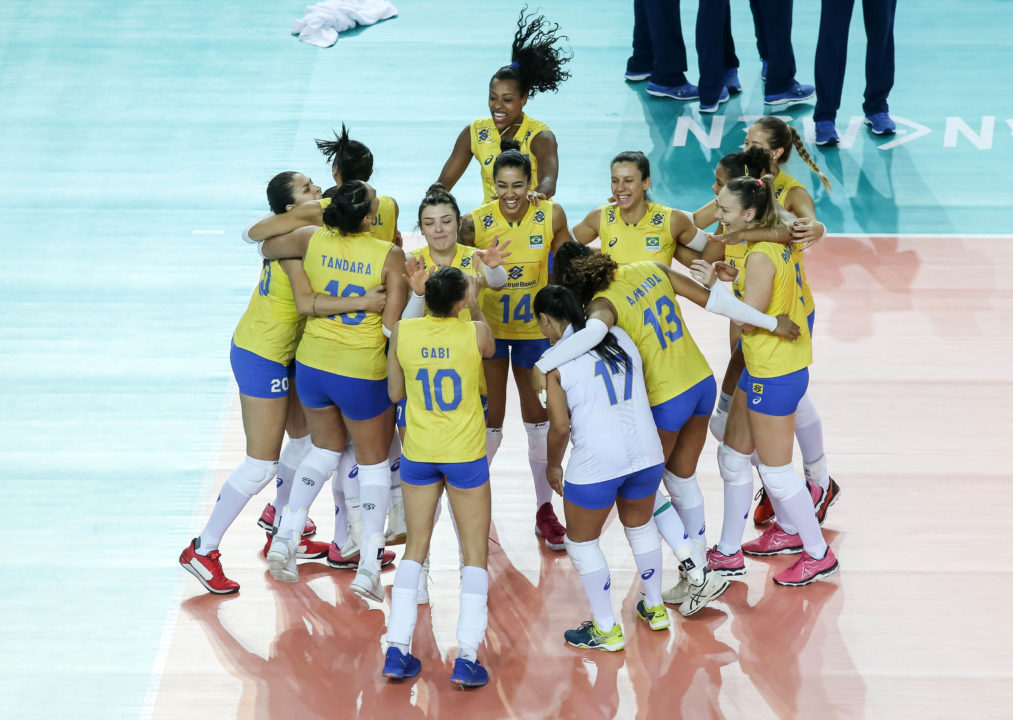 18 Blocks, 30 Points by Caixeta Lift Brazil Past Russia in 5 Sets