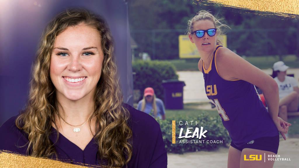LSU Beach Adds Alumna Cati Leak to Coaching Staff