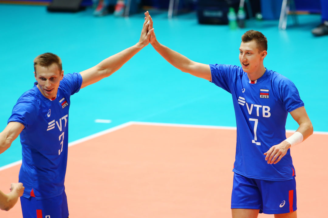 Young American Lineup Falls to Russia in Sweep