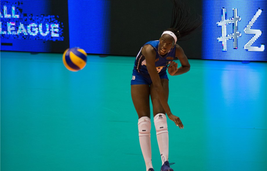 Egonu's 28 Points Lift Italy Past Serbia in 5; Netherlands Sweeps DR