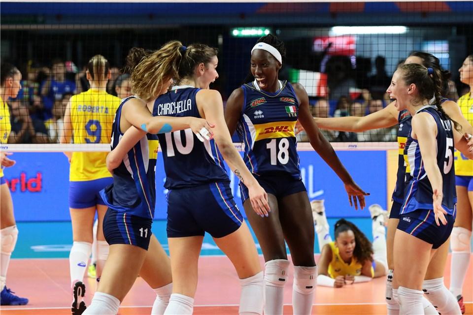 Italy Wins Eighth Straight in 5-Setter vs. Brazil, Belgium Wins in 4