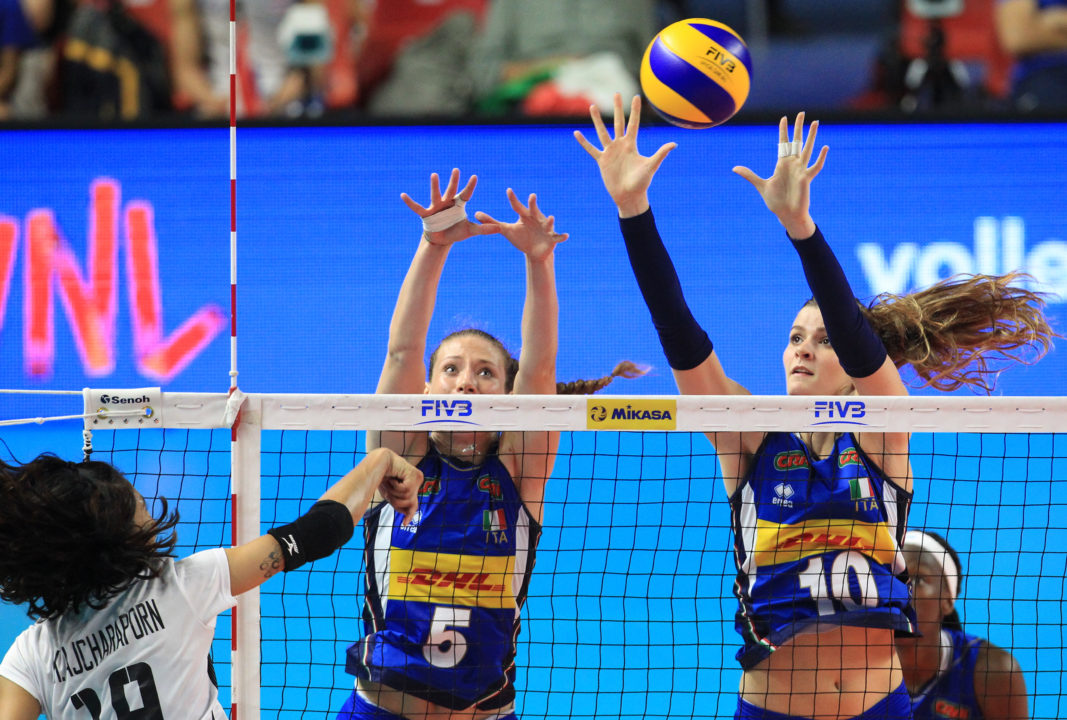 Caixeta Salvages 4-Set Win for Brazil; Italy Stuffs Thailand