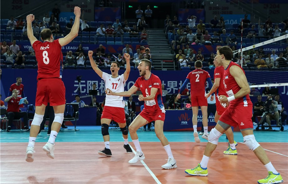 Serbia Tops Japan to Make Final Six; Canada Sweeps China