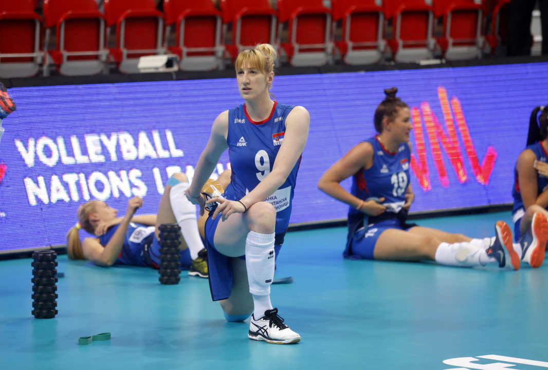Brankica Mihajlovic Out for Week 4 of #VNL with Injury