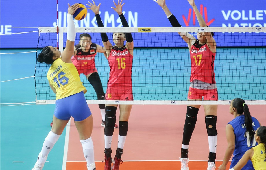 Balanced Brazilian Attack Lifts Past China, Zhu Ting's 34 Points in 5