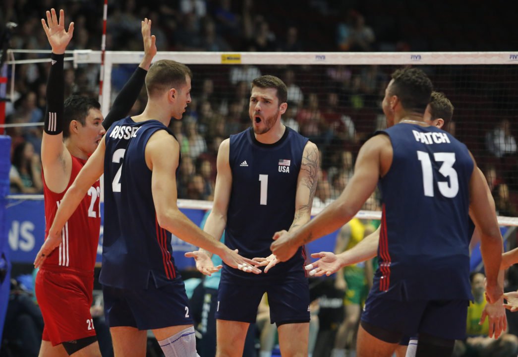 Anderson's 20 Points Drive USA to 4-Set Win over Australia