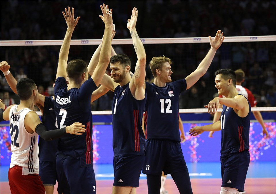 France Remains on Top, USA Climbs into Second in #VNL Standings