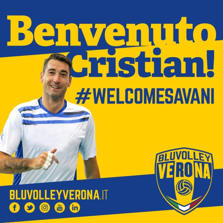 Cristian Savani Lands in Verona!