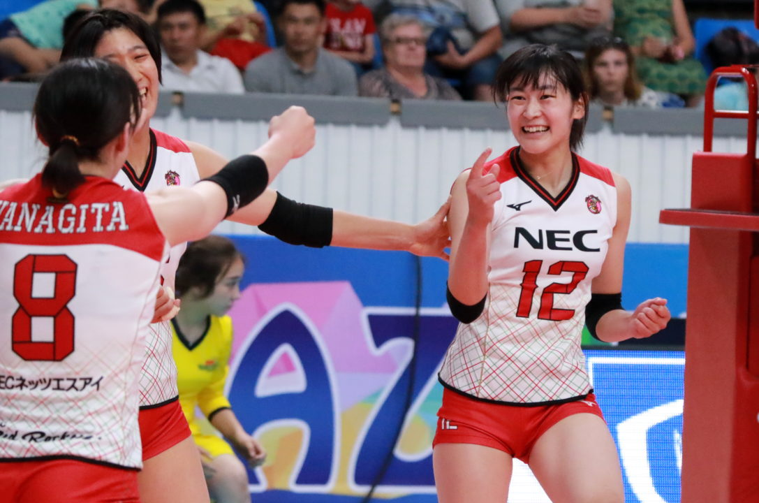 Asian Women's Club Champ. – NEC Red Rockets Top Seed Going Into Playoffs