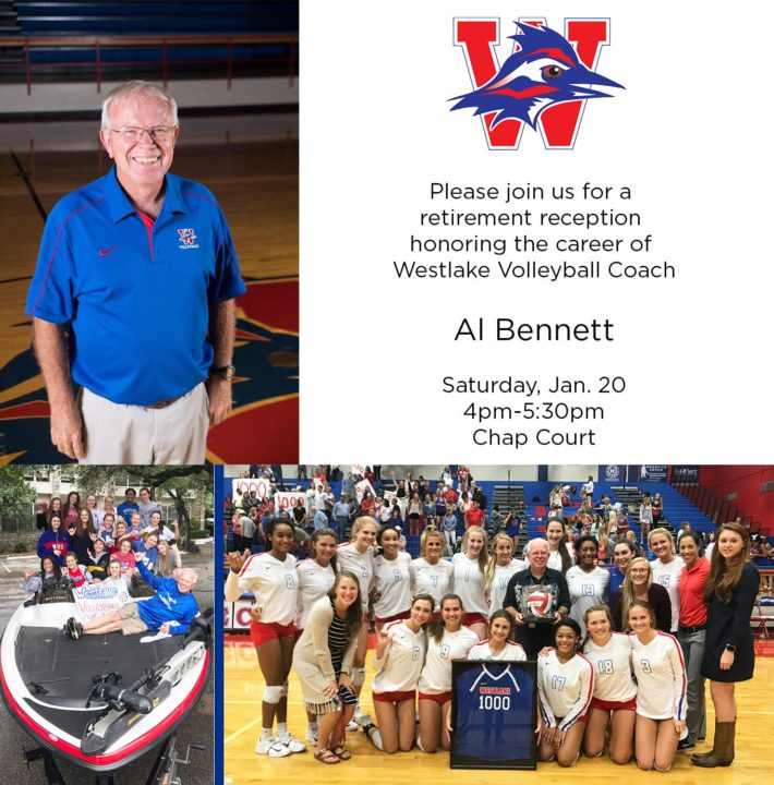 Westlake High Coach Al Bennett Named to Texas State Girls VB HOF