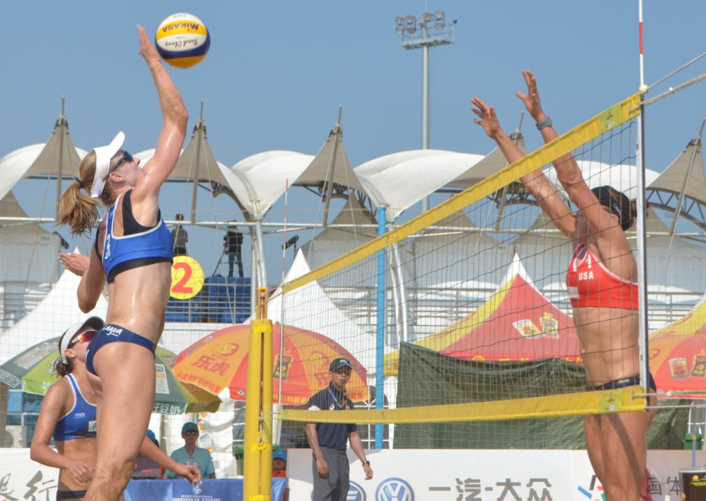 Three USA Women's Pairs, Two Brazilian Men Make Haiyang Final Four
