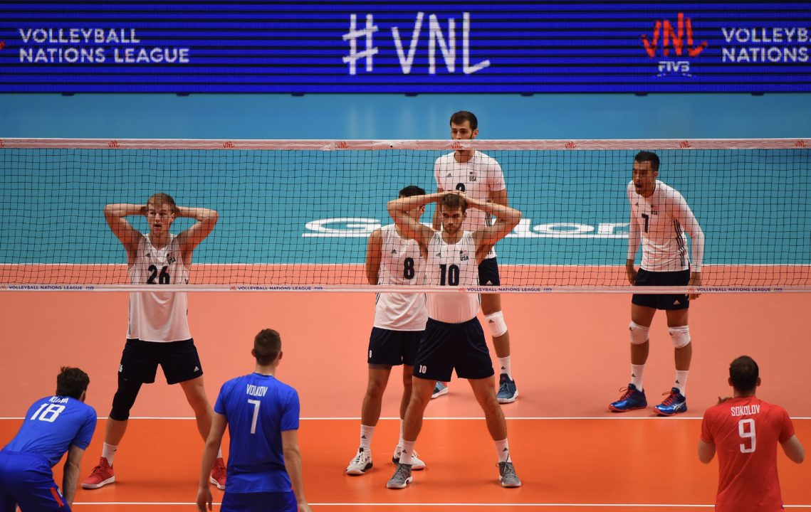 #VNL Update: United States Uses Entirely New Lineup Against Russia.