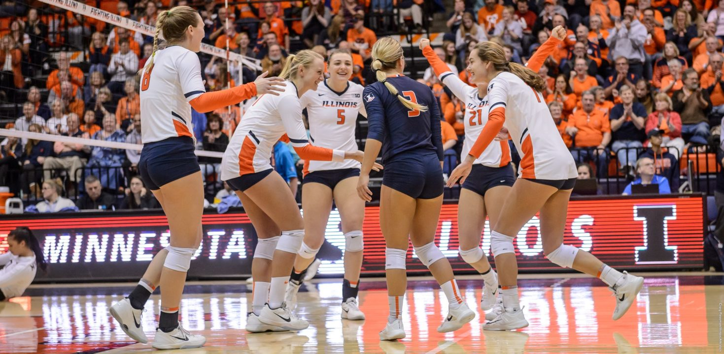 VolleyMob Top 25 Power Rankings (Week 3): Illinois Nears the Top Five