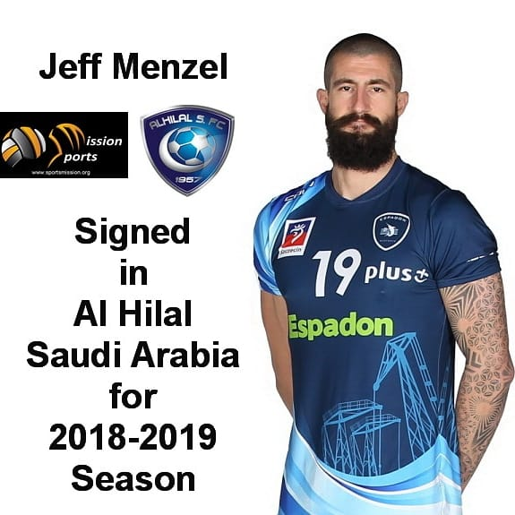 Jeff Menzel is Heading to Saudi Arabia Next Season