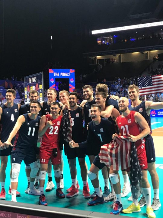 USA Men Claim VNL Bronze with Sweep of Brazil